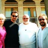Ян Табачник,Гарік Кричевський, Валентина та Ярослав Теплі після концерту в Іршанську.